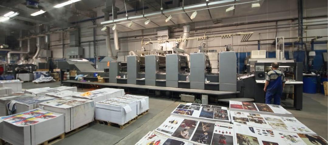 Adiabatic cooling printing industry