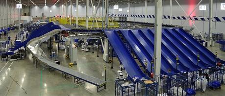 Adiabatic cooling distribution center