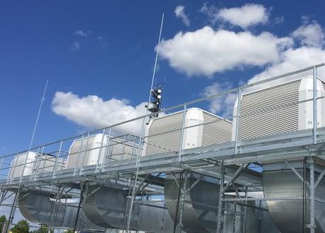 Adiabate Kühlung Raumlufttechnischer Anlage