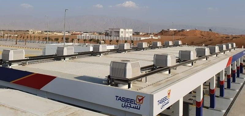 Raffreddamento evaporativo sostenibile degli spazi esterni